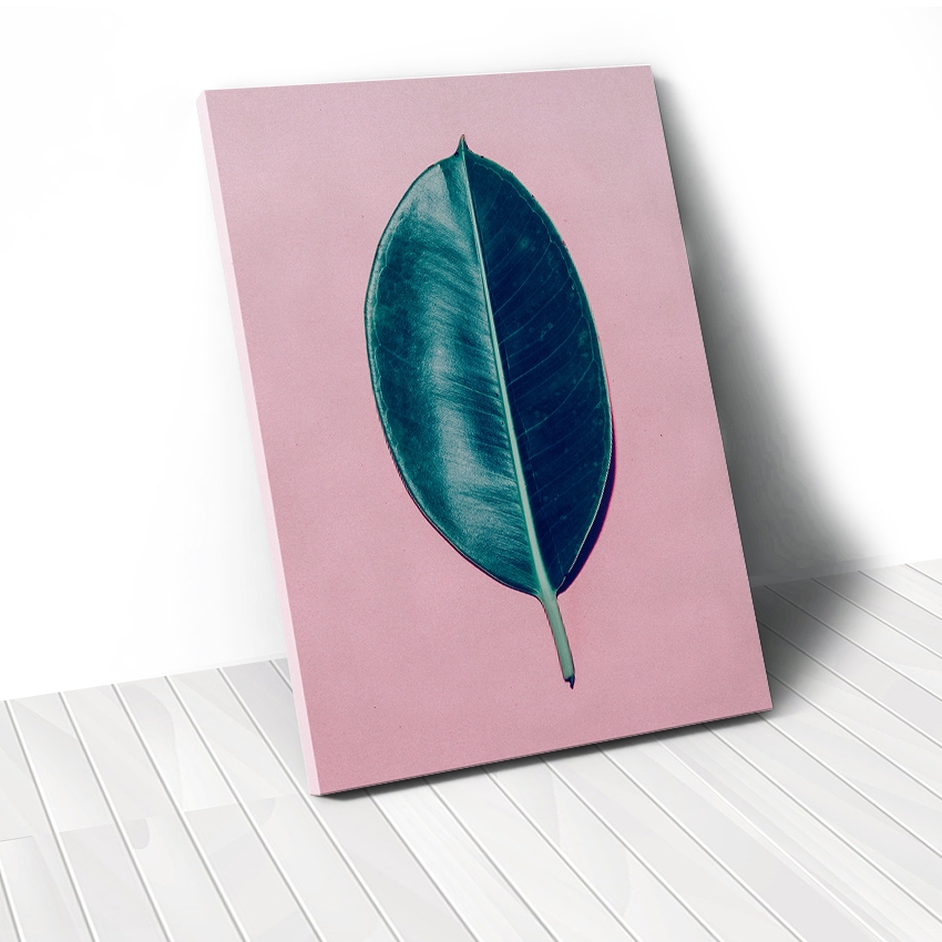 Tranh Leaf, pastel, pink, beauty