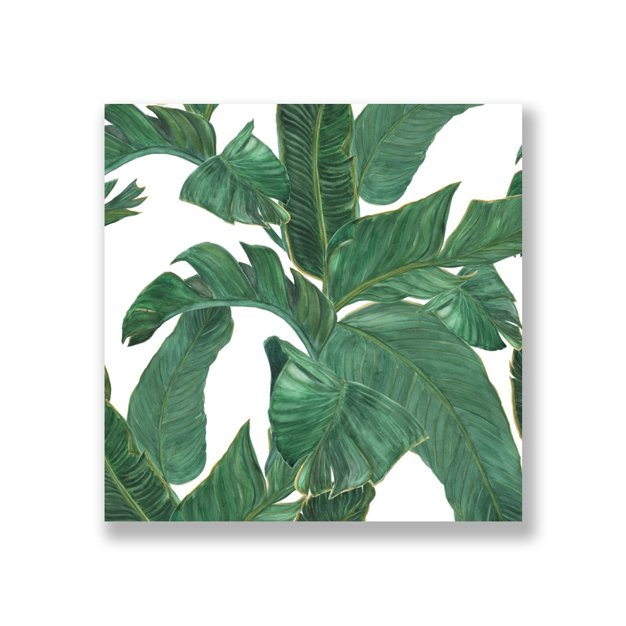 Tranh Watercolor painting Banana leaves
