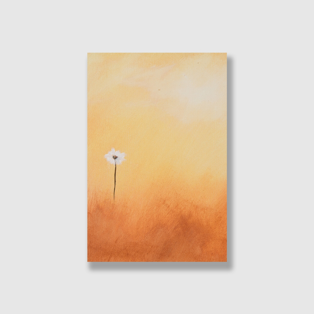 Tranh White flower painting S0209