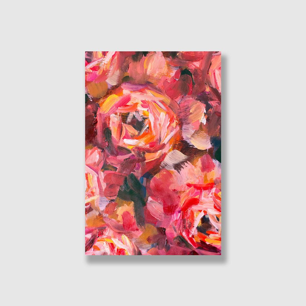 Tranh Rose flower painting S0210