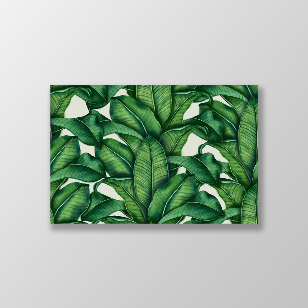 Tranh Tropical Pattern, Green Leaves S0212