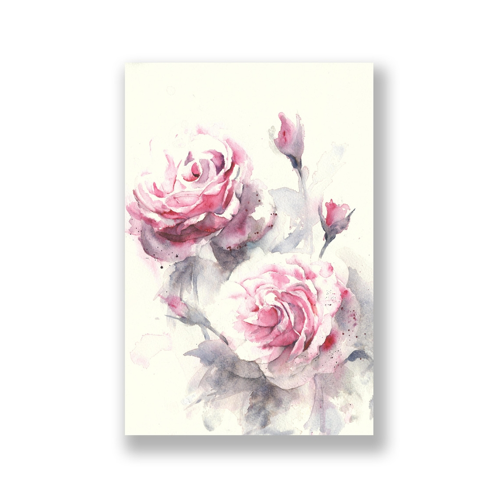 Tranh Roses flower, watercolor painting S0223
