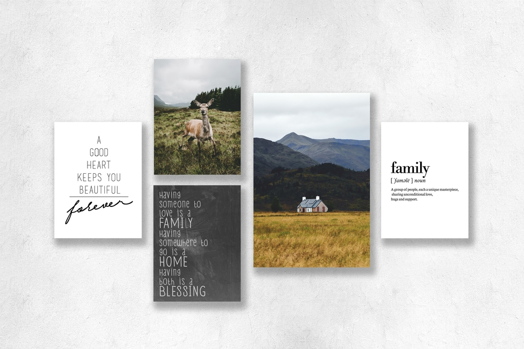 Bộ tranh Highland, Landscape, Family quote SE172