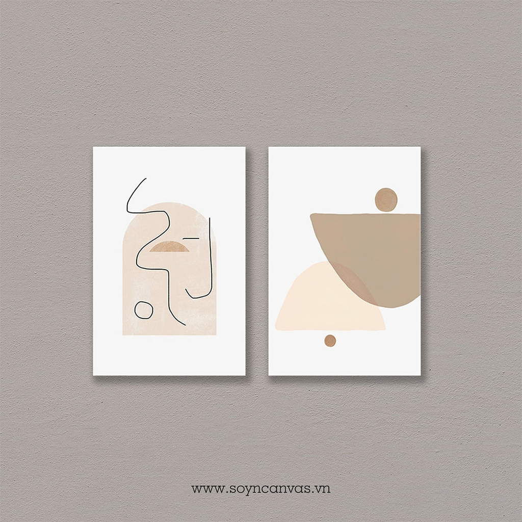 Bộ tranh Abstract, Beige Wall Art SE269