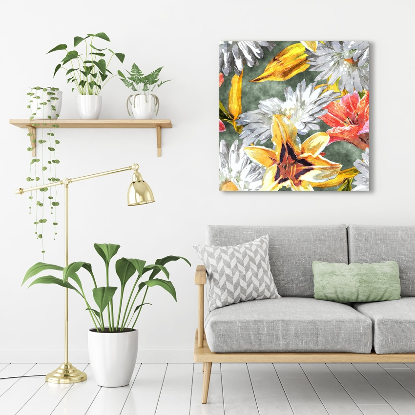 Tranh Tropical pattern painting
