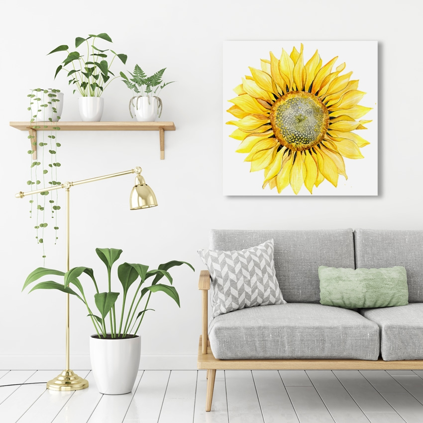 Tranh Sunflower watercolor