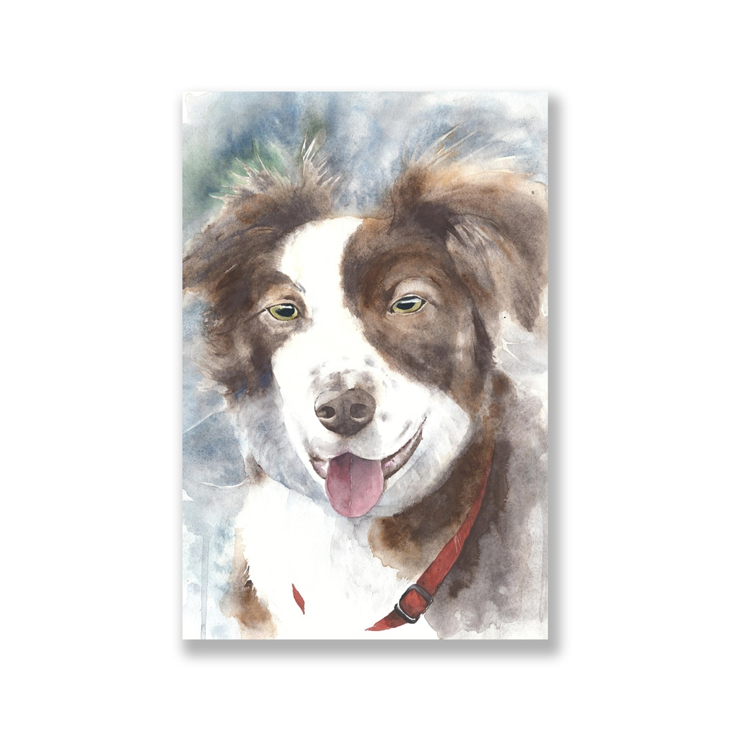 Tranh Dog watercolor painting SN0081