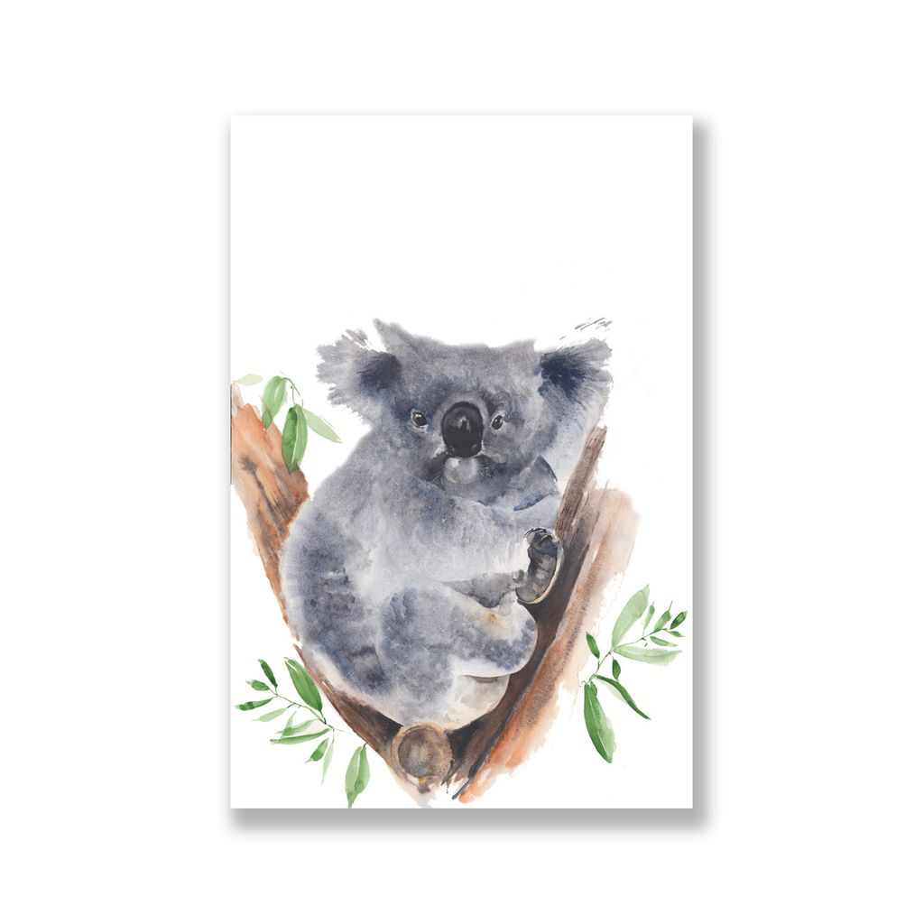 Tranh Koala watercolor painting SN0086