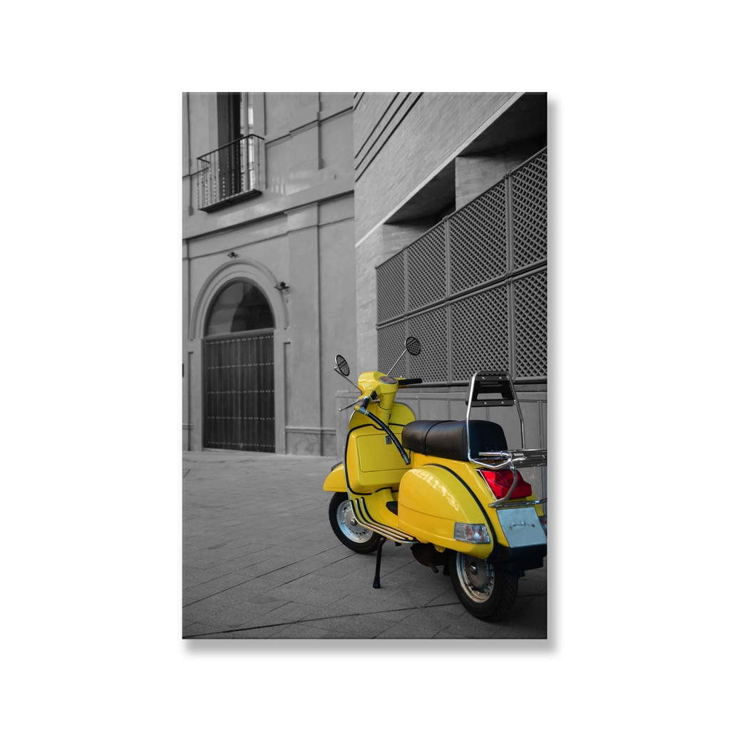 Tranh Yellow Vespa, Black and White