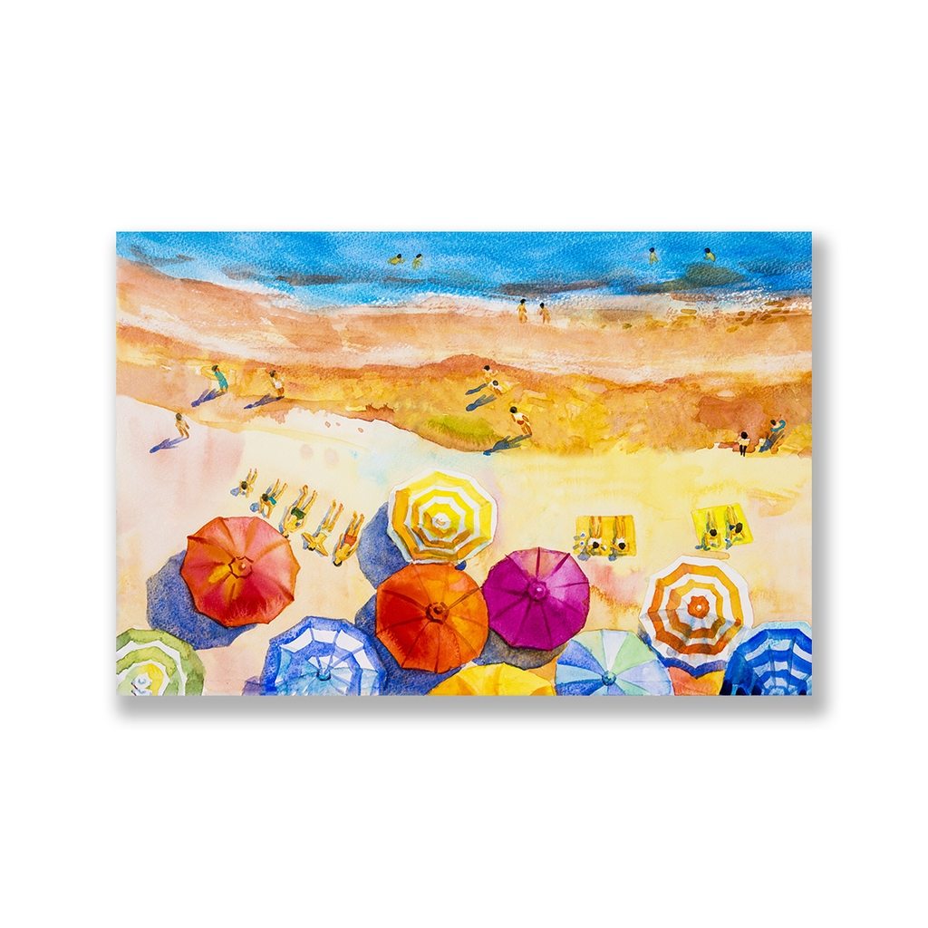 Tranh The beach, colorful, watercolor SNS283