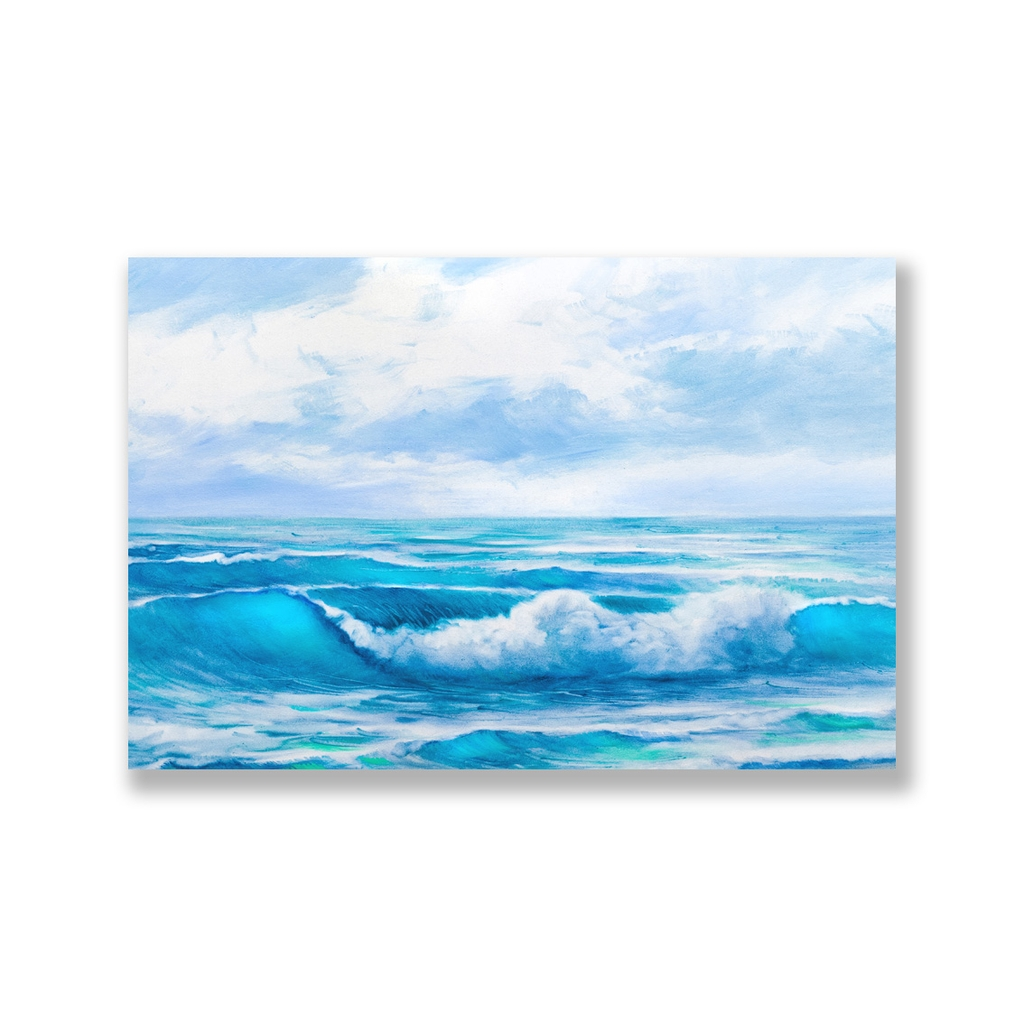 Tranh Sea, Ocean, Blue Wave painting