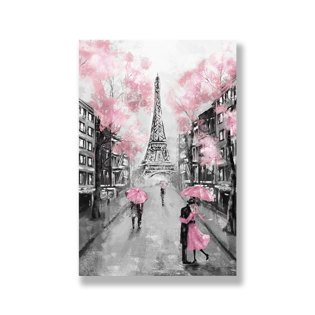 Tranh Love in Paris painting, pink SNS307