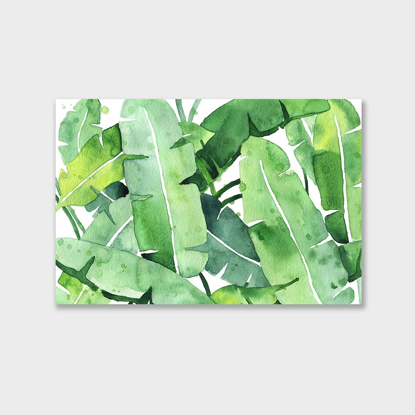 Tranh Banana leaves watercolor