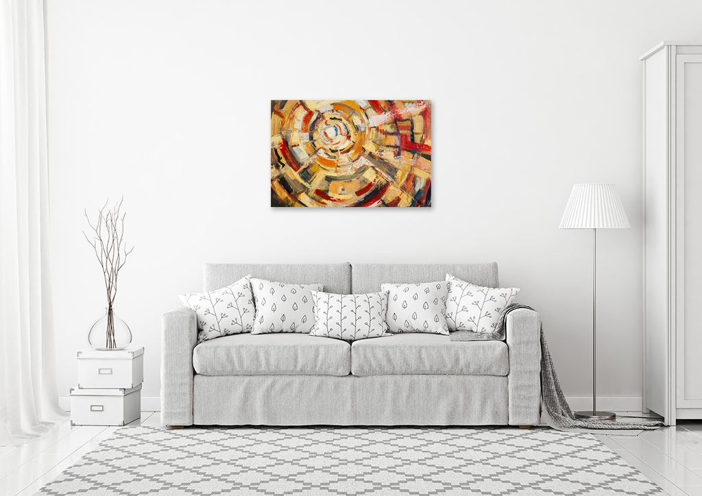 The swirling Abstract painting 02