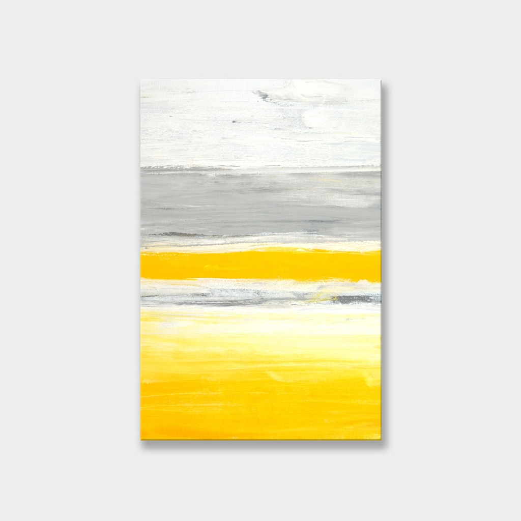 Tranh Yellow, abstract, painting