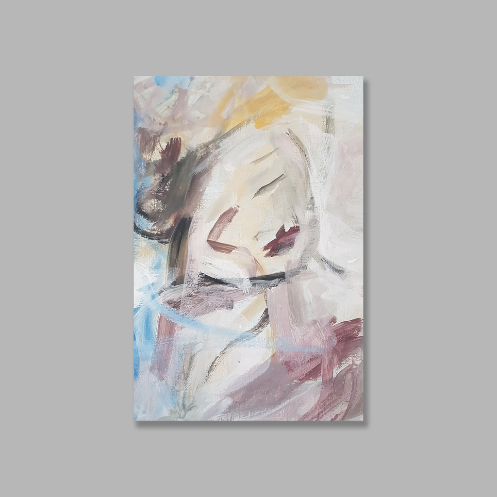 Tranh Abstract Lady painting, Color, Art SU0114