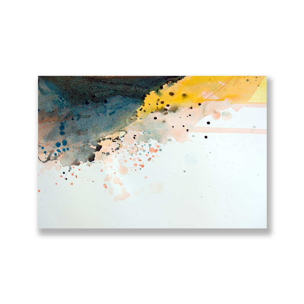 Tranh Abstract painting, watercolor, yellow SU0141