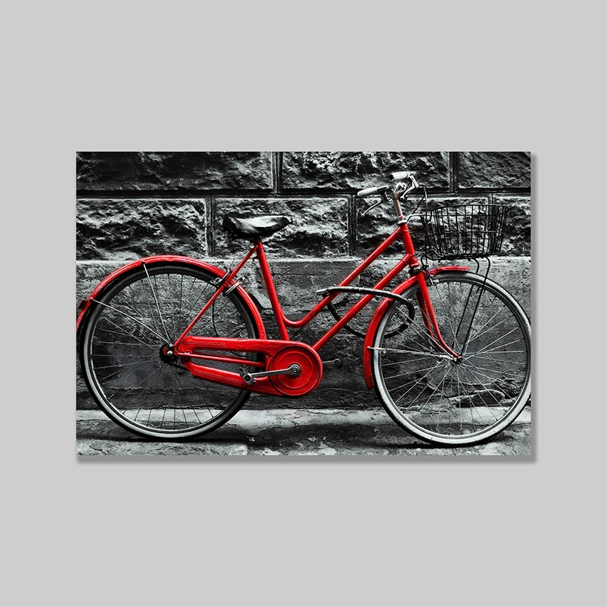 Tranh Red bicycle