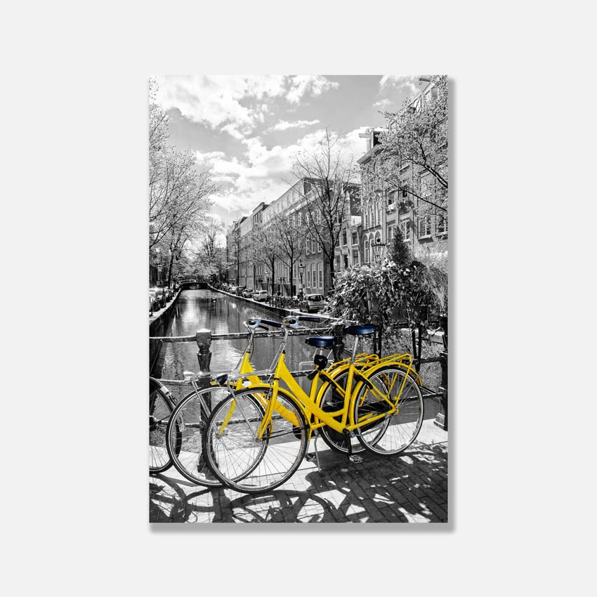 Tranh Yellow bicycle, Holland