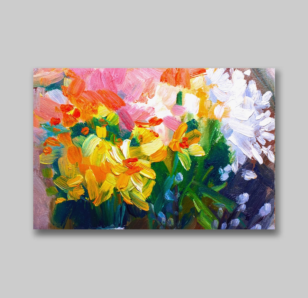 Tranh Flower painting, abstract