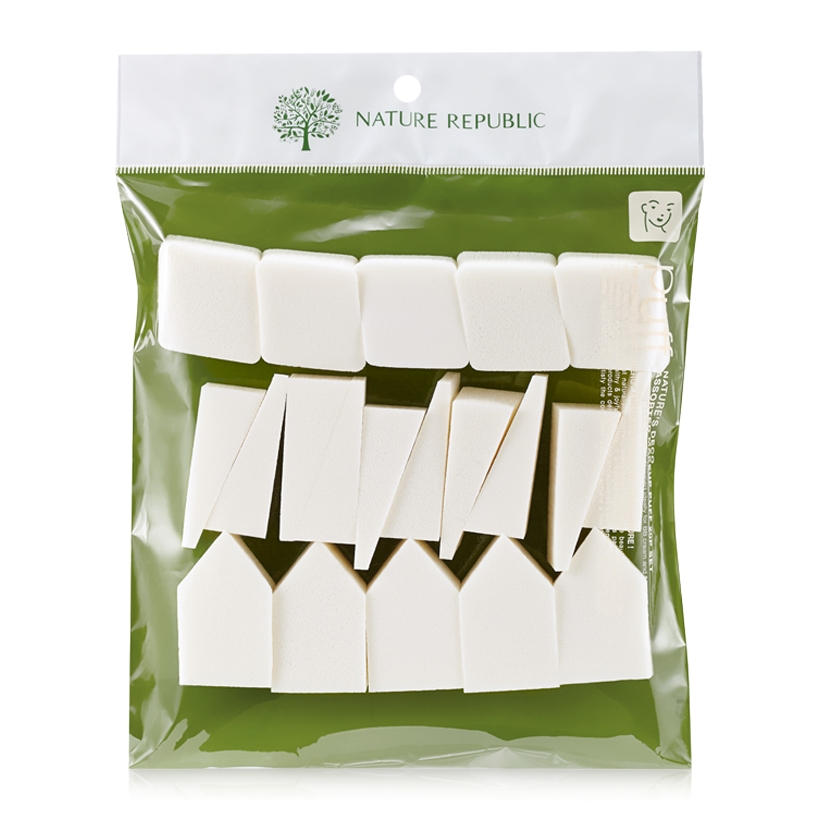 Bộ Mút Trang Điểm Nature Republic 20 Packs Make Up Puff (20P)