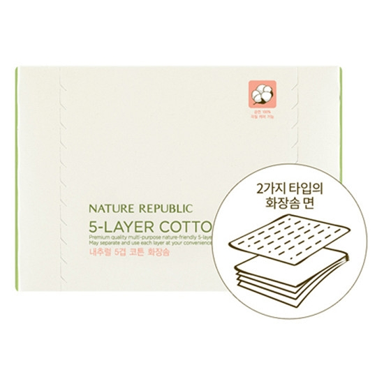 Bông Tẩy Trang Nature Republic 5-Layer Cotton Wipe