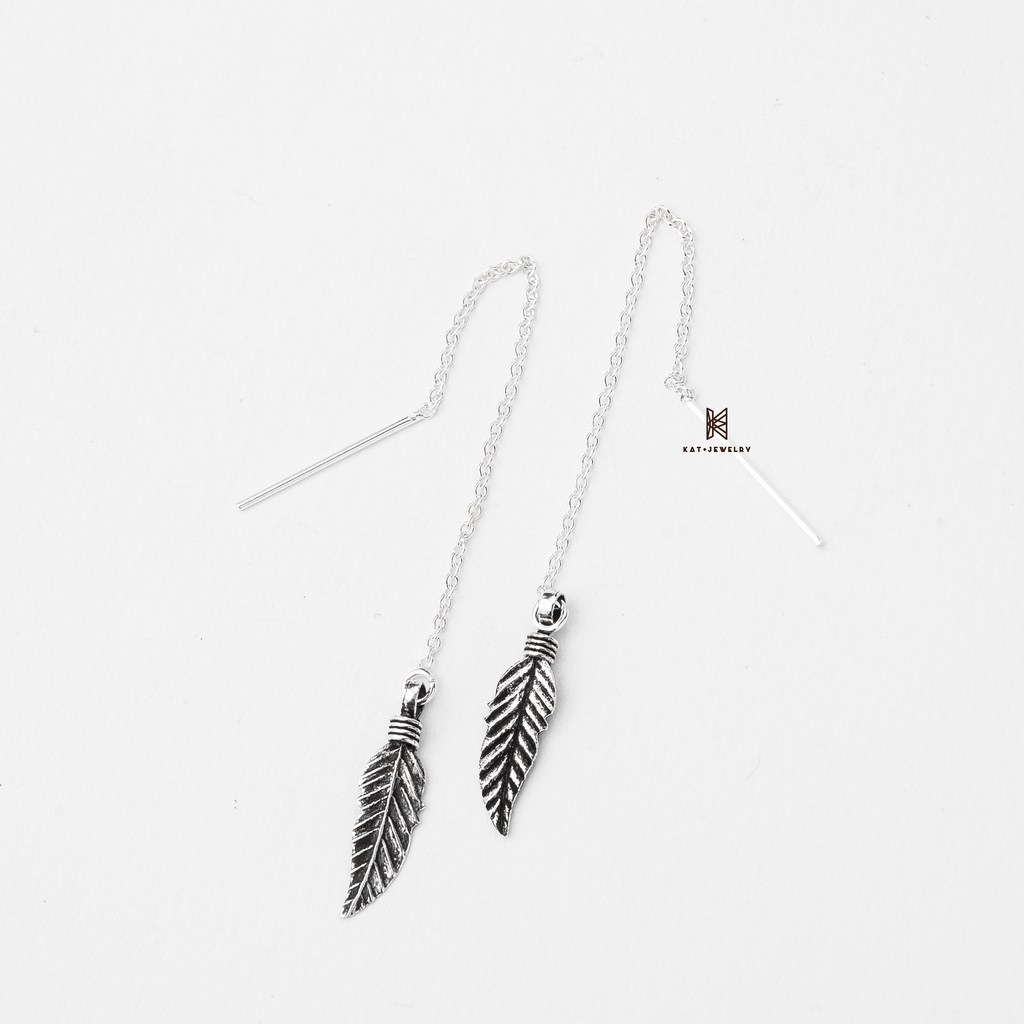 E STUD FEATHER OXIDIZE