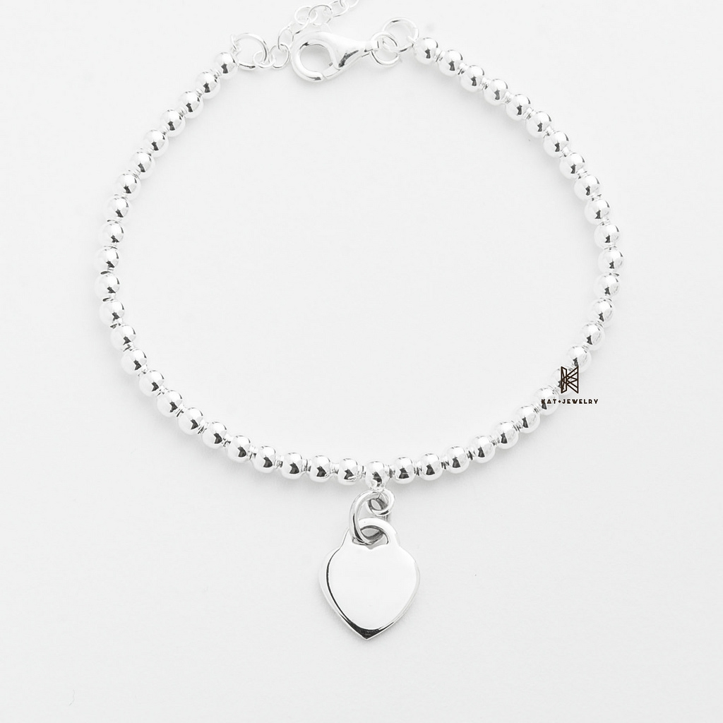BRA POLISHED OVAL TAG WITH BALL CHAIN