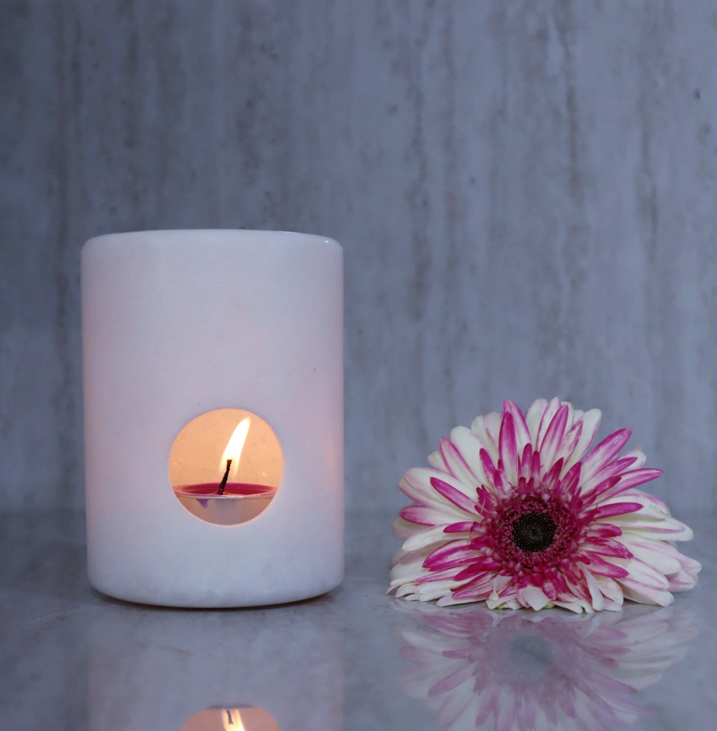 STONE PRODUCT - MARBLE CANDLE HOLDER - VARIOUS COLOUR