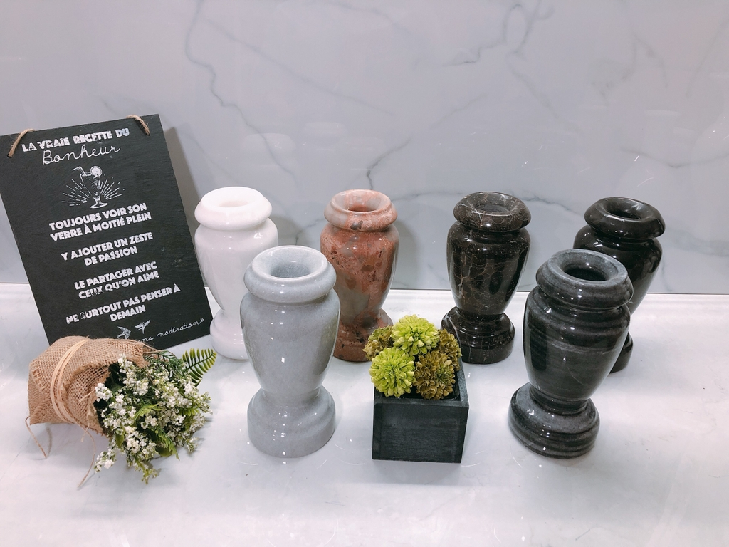 STONE PRODUCT - FLOWER VASE - VARIOUS COLOUR