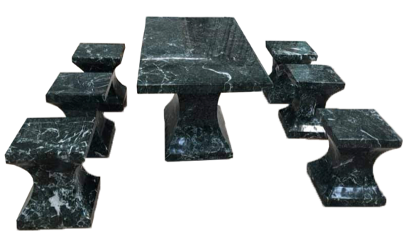STONE PRODUCT - Y-SHAPE CHAIR AND TABLE SET
