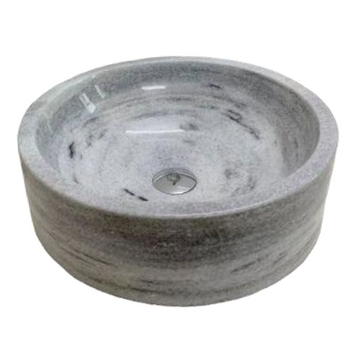 NATURAL STONE BATHROOM BASIN - GREY MARBLE - XDT12