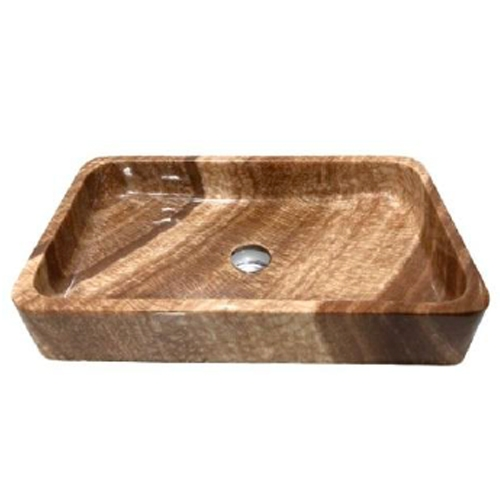 NATURAL STONE BATHROOM BASIN - WOODEN YELLOW - BST55A