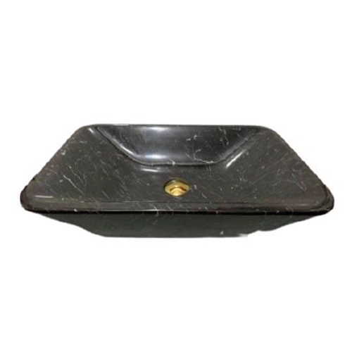 NATURAL STONE BATHROOM BASIN - ITALY BLACK - BST53