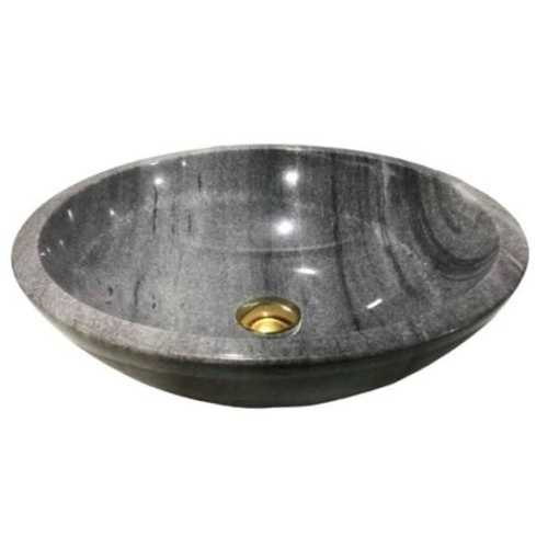 NATURAL STONE BATHROOM BASIN - CLOUD GREY - BST10