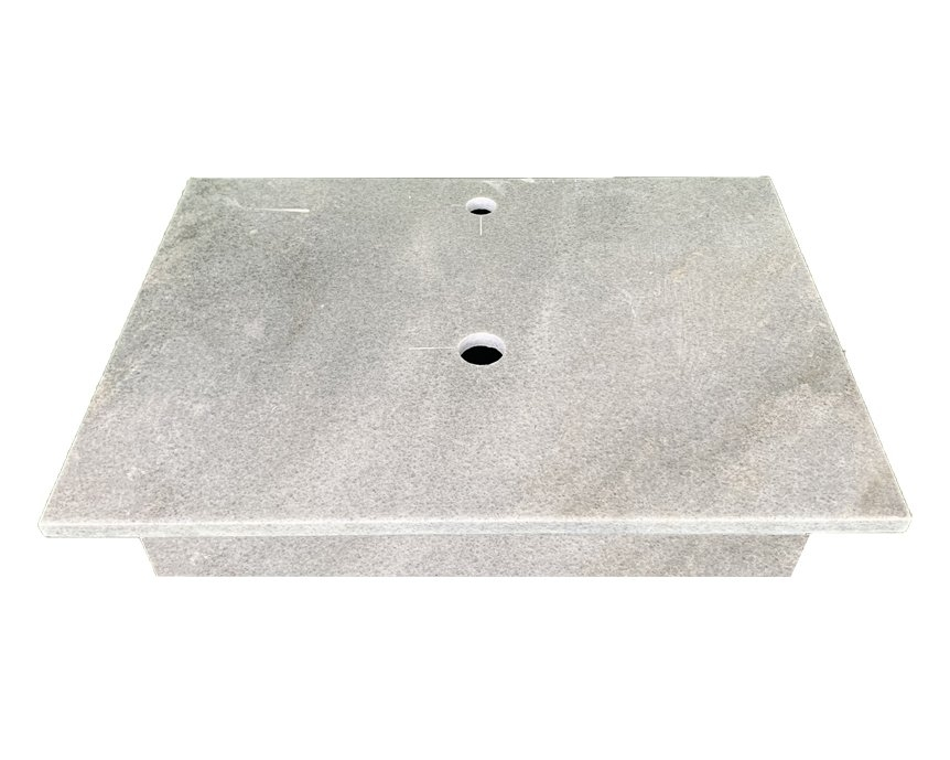 NATURAL STONE LAVABO TABLE - CLOUD GREY MARBLE - T08