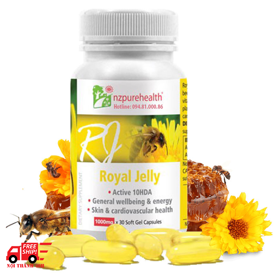 Viên sữa ong chúa Royal Jelly Nzpurehealth New Zealand (30 Viên)