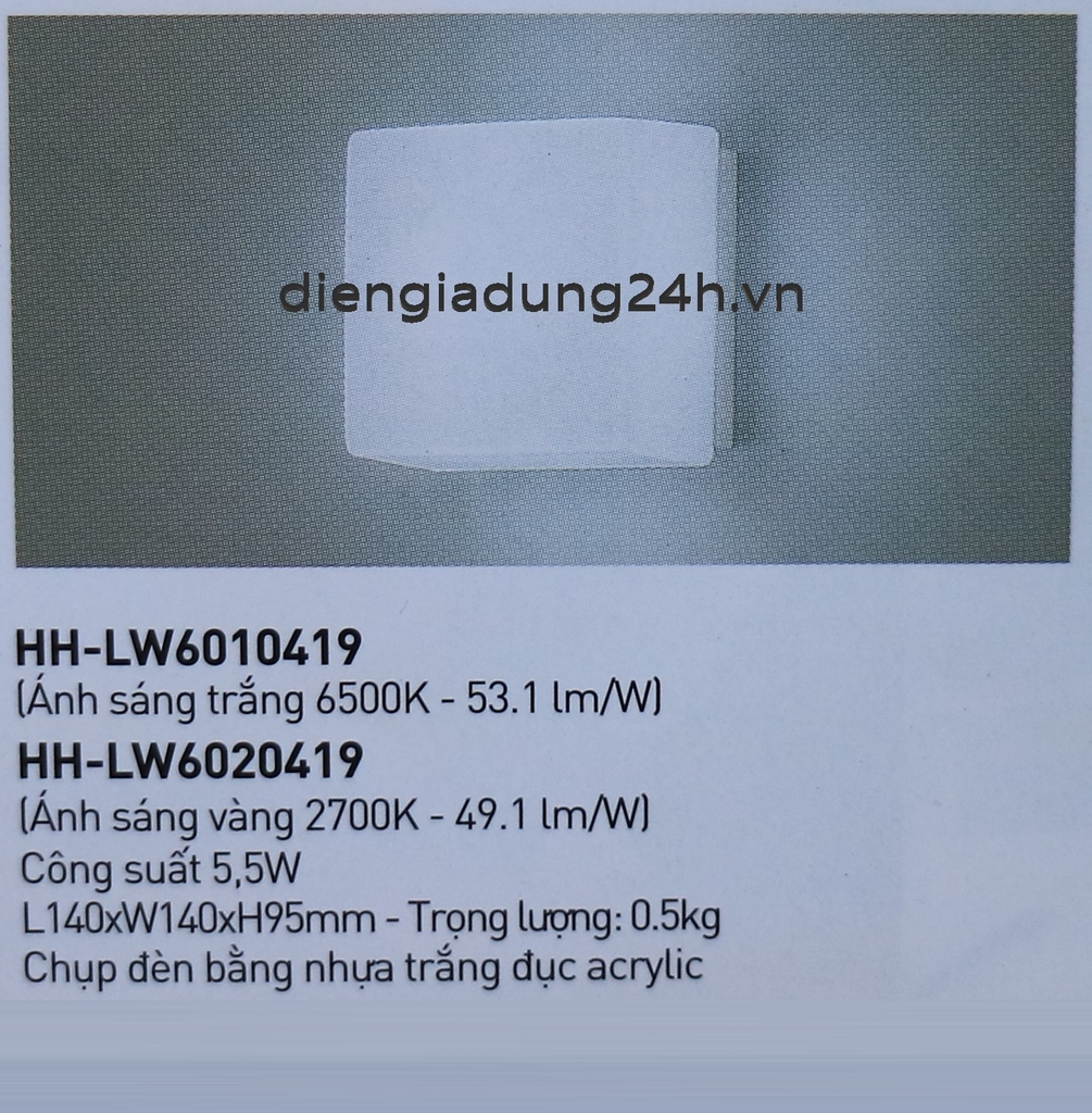 ĐÈN LED DOWNLIGHT NANOCO HH-LW6010419/HH-LW6020419
