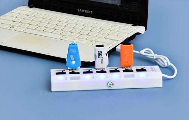 Kết quả hình ảnh cho HUB Chia 7 cổng USB có công tắc