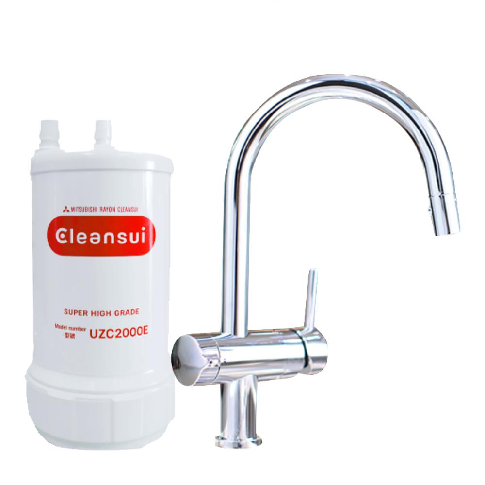 Máy lọc nước vòi tích hợp tròn Cleansui EU201