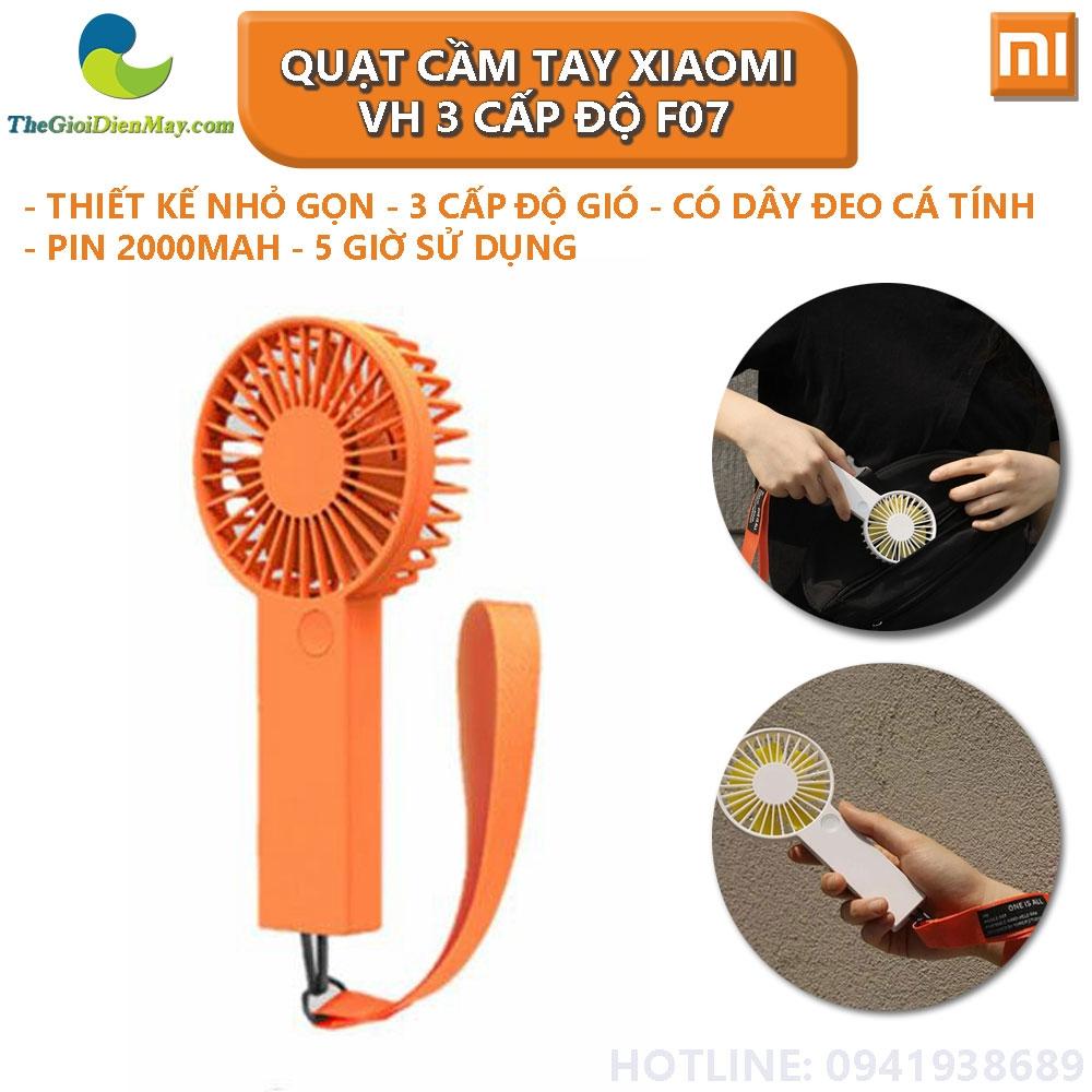 Quạt Cầm Tay Xiaomi VH 3 Cấp Độ F07 - Bảo Hành 3 Tháng Thế giới điện máy -  đại lý xiaomi chính hãng tại Việt Nam