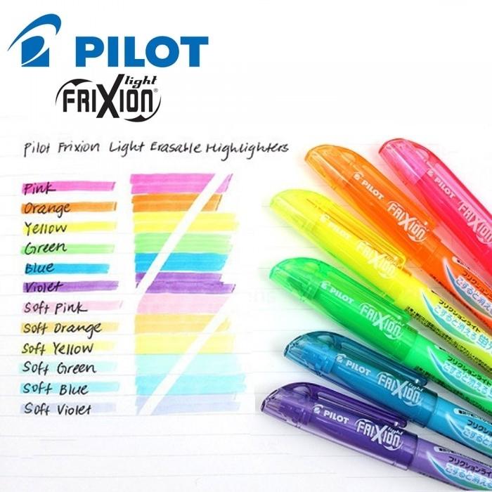 Bút highlight xóa được Pilot FriXion Light, màu Neon www.itoya.vn