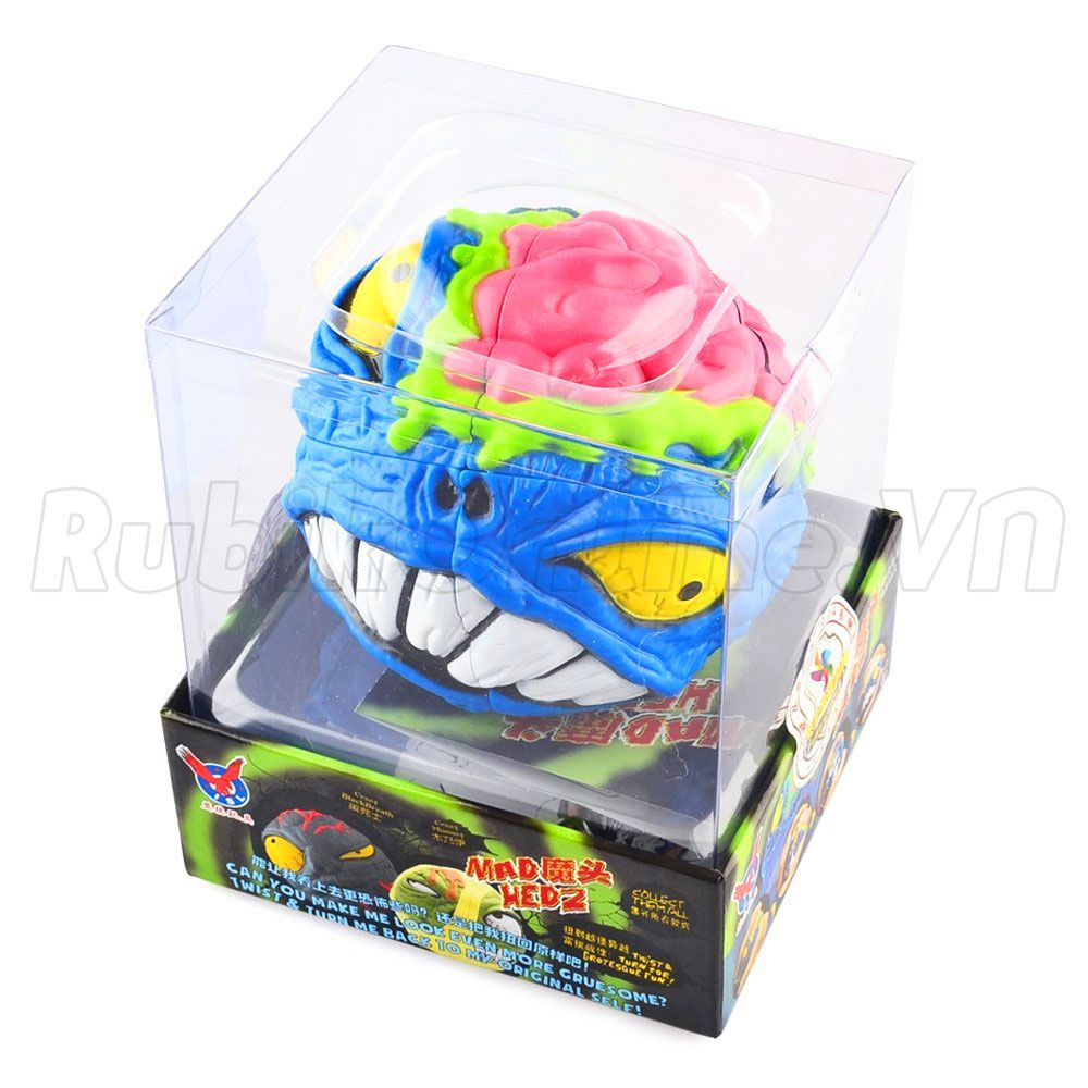MAD HEDZ Crazy Brain 68mm 2x2x2 Puzzle Head Cartoon - Rubik đầu quỷ