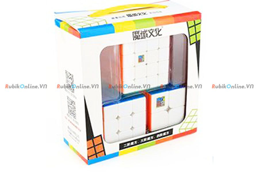 Combo Rubik 3 chiếc - MoFangJiaoShi Gift Packing with 3 cubes Stickerless