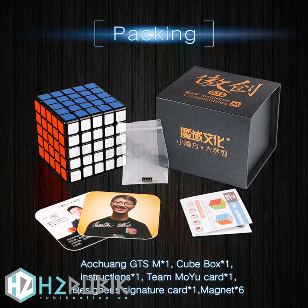 MoYu AoChuang 5x5 GTS Magnetic - Stickerless