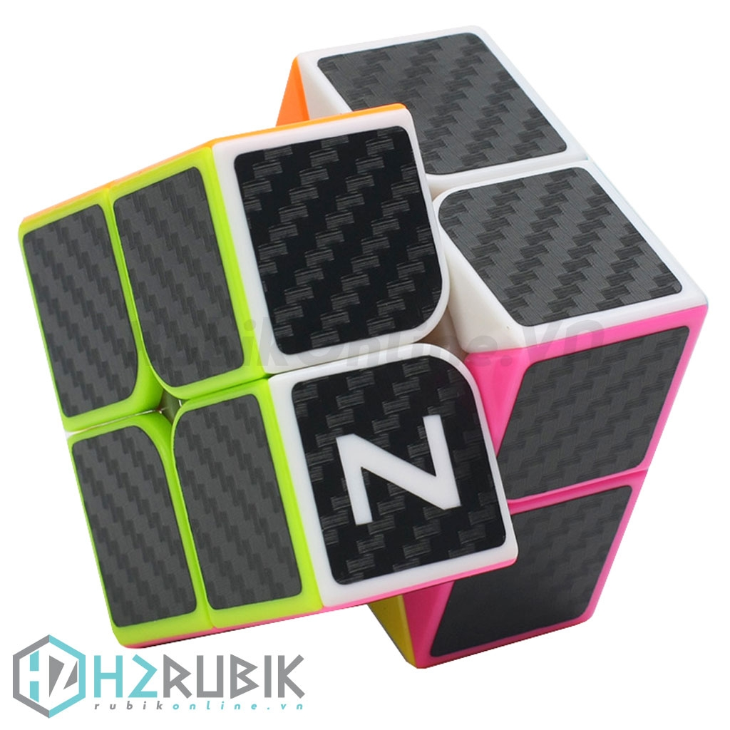 Z-Cube 2x2 Carbon Stickers - Rubik 2x2 carbon