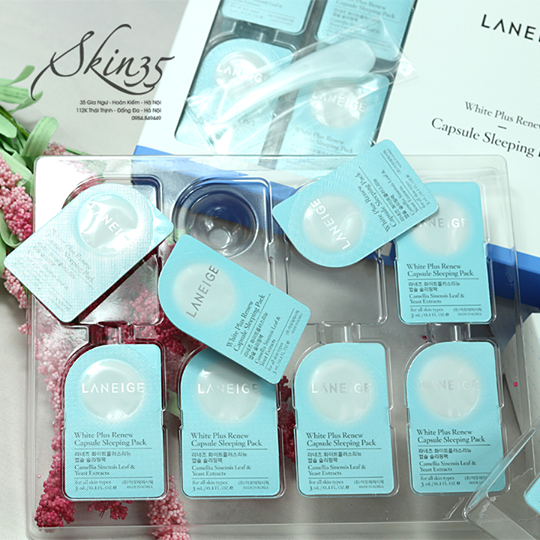 Mặt nạ Ngủ Trắng Da Laneige White plus renew capsule sleeping pack