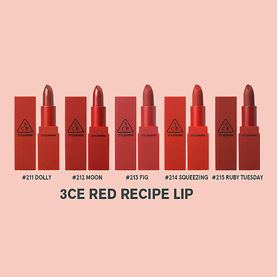 3CE Red Recipe Lip #215 Ruby Tuesday