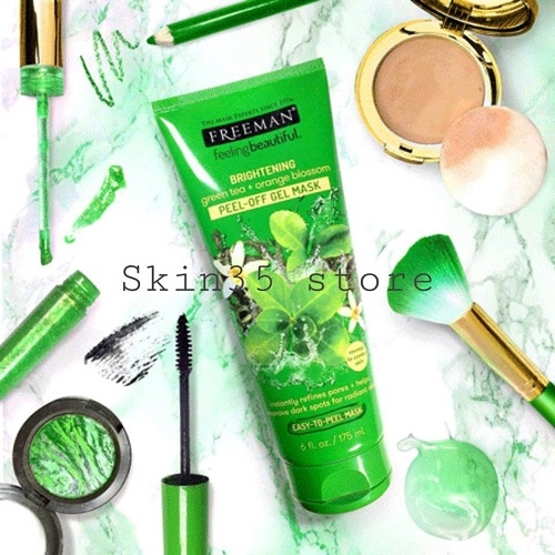 Mặt Nạ Freeman Feeling Beautiful Mask Brightening Green Tea + Orange Blossom Peel – Off Gel Mask