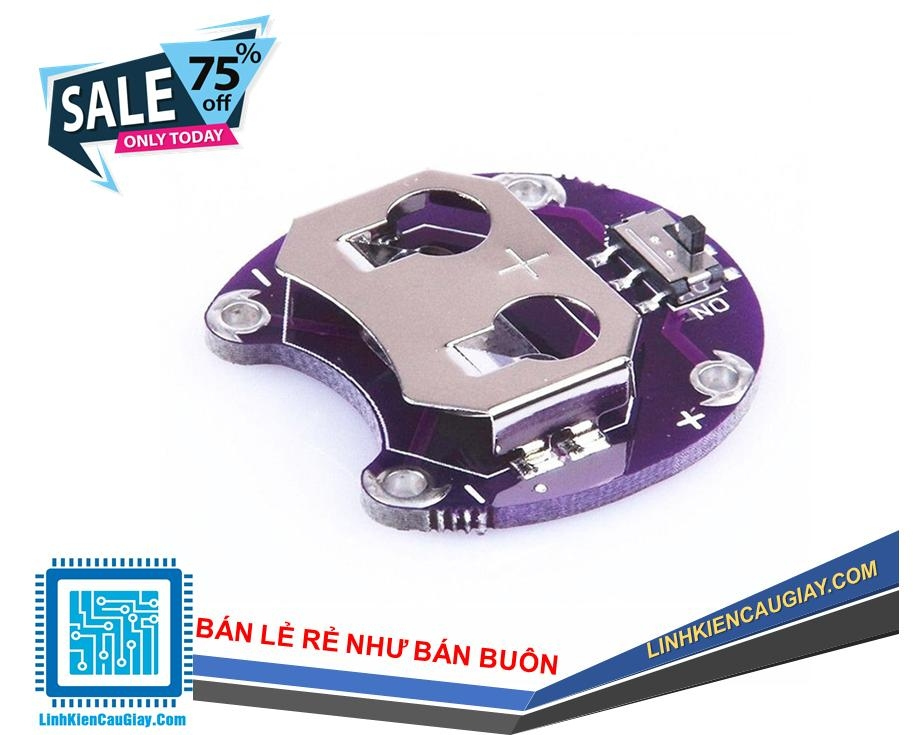 Module đế pin CR2032 LilyPad Coin Cell Holder CR2032